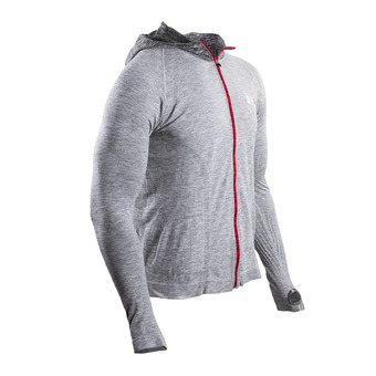Compressport 3D THERMO SB RUN - Sweat Homme grey