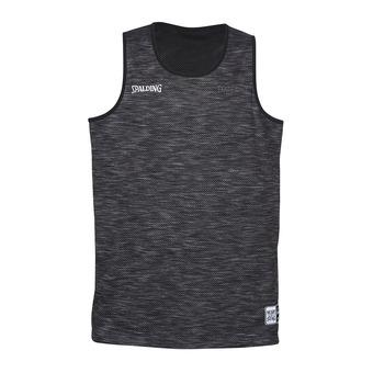 Camiseta reversible hombre STREET gris jaspeado/negro