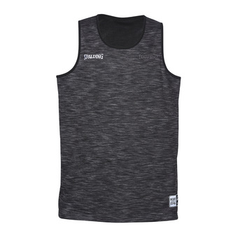 Spalding STREET - Camiseta hombre gris jaspeado/negro
