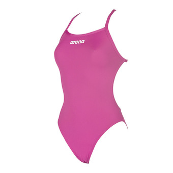 Bañador mujer SOLID LIGHTECH HIGH fresia rose/white