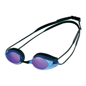 Arena TRACKS MIRROR - Gafas de natación black/blue multi/black