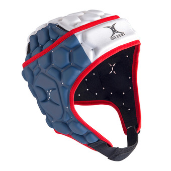 Gilbert FALCON 200 - Casque rugby Homme bleu/blanc/rouge