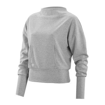 Sudadera mujer ACTIVEWEAR WIRELESS SPORT silver/marle