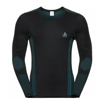 Odlo VENT WINDSHIELD - Camiseta térmica hombre black/lake blue