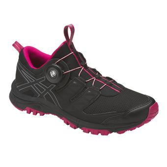 Chaussures trail femme GEL-FUJIRADO black/carbon/cosmo pink