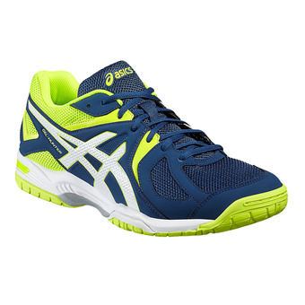 Asics GEL-HUNTER 3 - Chaussures badminton Homme poseidon/white/safety yellow