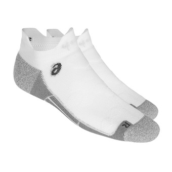 Asics ROAD PED DOUBLE TAB - Socks - performance white
