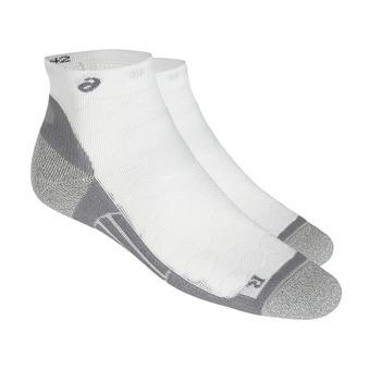 Asics ROAD QUARTER - Socks - performance real white