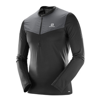 Maillot ML 1/2 zip homme FAST WING HZ black/forged