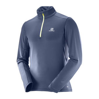 Maillot ML 1/3 zippé homme AGILE WARM blue