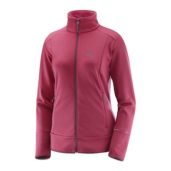 Chaqueta polar mujer DISCOVERY FZ beet red