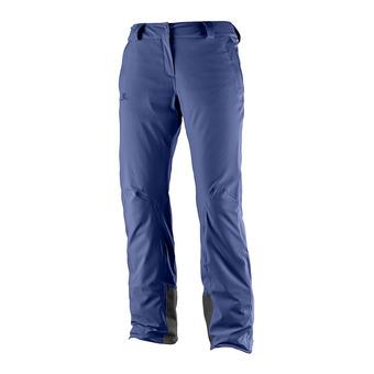 Salomon ICEMANIA - Pantalon ski Femme medieval blue