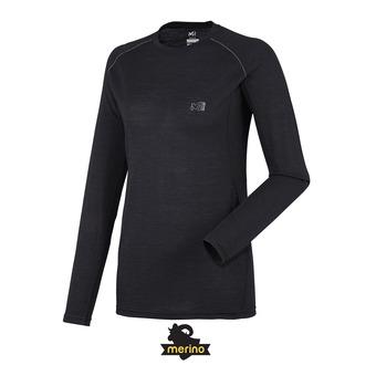 Camiseta térmica mujer LD C WOOL BLEND 150 negro