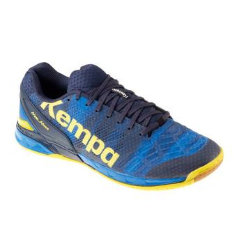 Zapatillas de balonmano hombre ATTACK ONE azul profundo/amarillo limón