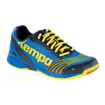 Zapatillas de balonmano hombre ATTACK THREE azul profundo/amarillo limón