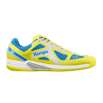 Chaussures handball homme WING LITE jaune spring/bleu cendré