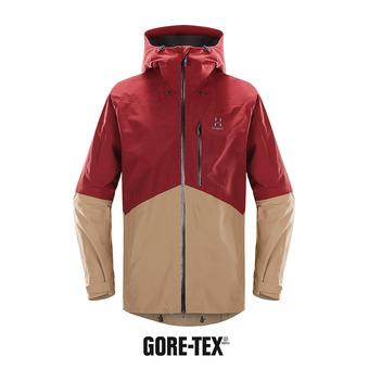 Veste à capuche Gore-Tex® homme NENGAL dark ruby/oak