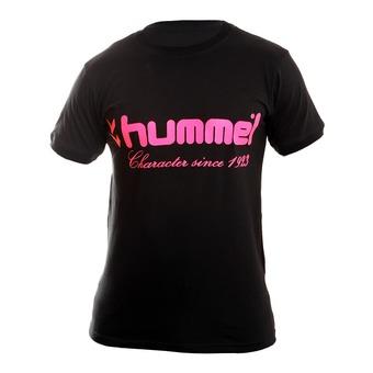Tee-shirt MC homme UNIVERS noir/rose fluo