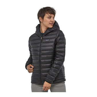 Hooded Down Jacket - Women's - DOWN SWEATER black