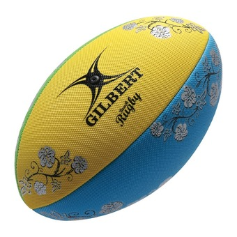 Ballon de beach rugby BEACH T.4 blue/yellow