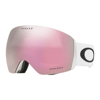 Oakley FLIGHT DECK - Gafas de esquí matte white/prizm hi pink iridium