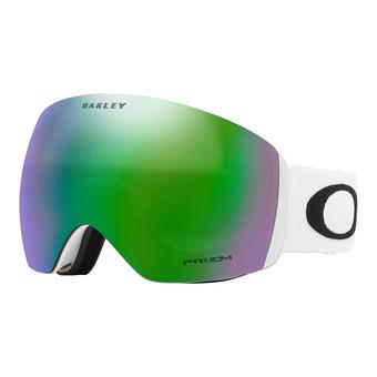 Oakley FLIGHT DECK - Gafas de esquí matte white/prizm jade iridium