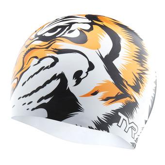 Bonnet de bain TIGER white/orange