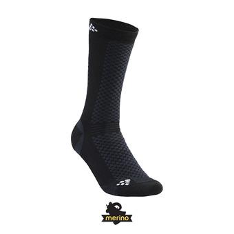 Pack de 2 pares de calcetines WARM negro/blanco