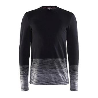 Camiseta térmica hombre KW WOOL COMFORT 2.0 negro/anthra