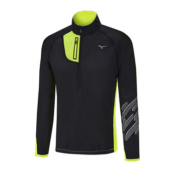 Maillot ML 1/2 zip homme STATIC BT black/safety yellow