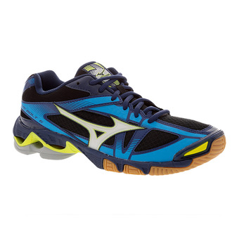 Zapatillas indoor hombre WAVE BOLT 6 black/white/blue depths