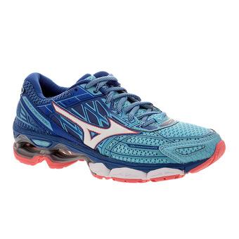 Chaussures running femme WAVE CREATION 19 blue topaz/white/true blue
