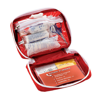 Trousse de secours pleine SMALL FIRST AID KIT rouge