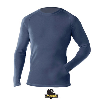 Sous-couche ML homme MERINO 250 CREW dark blue steel heather