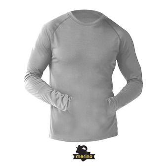 Sous-couche ML homme MERINO 150 PATTERN light gray