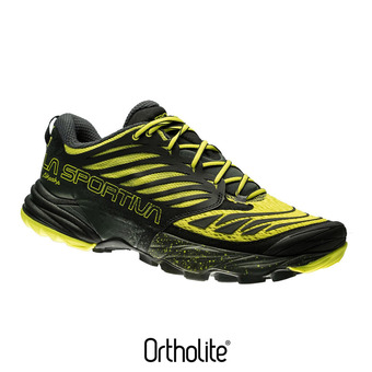 Zapatillas de trail hombre AKASHA black/sulphur