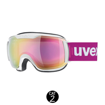 Gafas de esquí DOWNHILL SMALL 2000 FM white mat/mirror pink clear