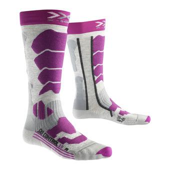 Chaussettes de ski femme CONTROL 2.0 gris/violet
