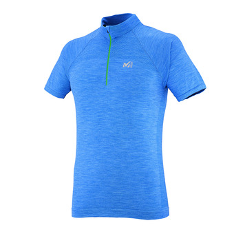 Camiseta hombre WOOLBLEND SEAMLESS electric blue