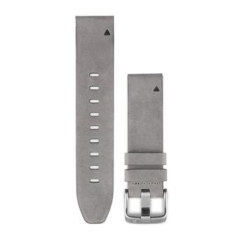 Garmin QUICKFIT - Bracelet cuir 20mm gris