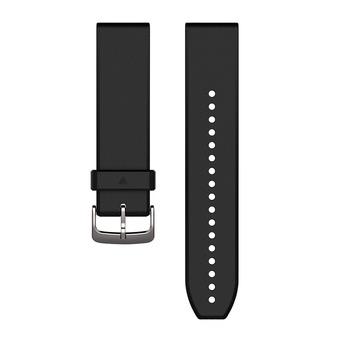 Correa de silicona QUICKFIT 22mm negro