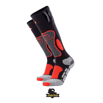 Calcetines con elemento calefactor hombre POWERSOCKS HEAT negro/rojo