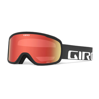 Giro CRUZ - Maschera da sci black wordmark amber scarlet