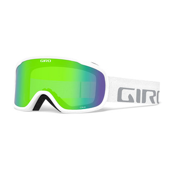 Gafas de esquí CRUZ white wordmark - loden green 26