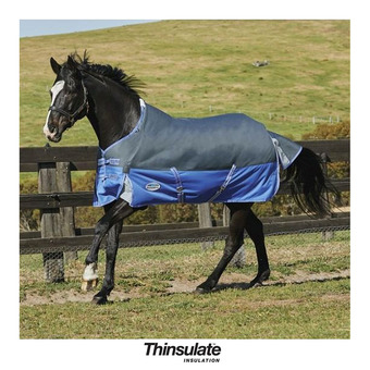 Manta de paddock COMFITEC THERMIC 350g grey/blue
