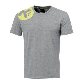 Camiseta hombre CAUTION gris claro jaspeado