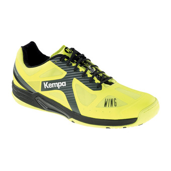 Kempa WING LITE CAUTION - Zapatillas de balonmano hombre yellow fluo/anthracite/black