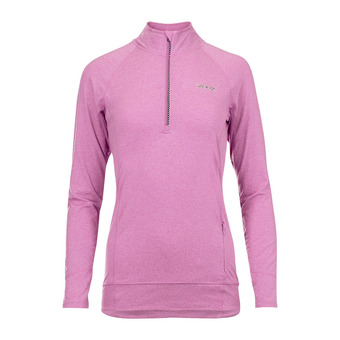 Maillot 1/2 zip ML femme OCEAN SIDE orchid/heather