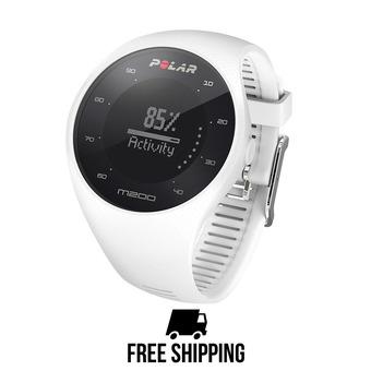 Reloj pulsómetro conectado M200 GPS blanco