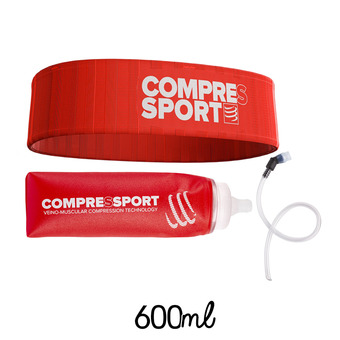 Ensemble ceinture FREE rouge + flasque 600ml ERGO